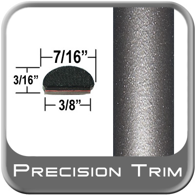 "7/16"" Wide Gray (Dark) Fender Trim (PT24) Sold by the Foot Precision Trim® #2150-24-01"