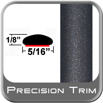 """5/16"""" Wide Gray (Dark) Wheel Molding Trim (PT08) Sold by the Foot Precision Trim® #24200-08-01"""