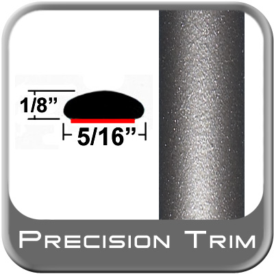 "5/16"" Wide Gray (Dark) Wheel Molding Trim (PT24) Sold by the Foot Precision Trim® #24200-24-01"
