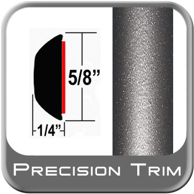 "5/8"" Wide Gray (Dark) Wheel Molding Trim (PT24) Sold by the Foot Precision Trim® #37130-24-01"