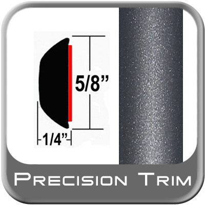 "5/8"" Wide Gray (Dark) Wheel Molding Trim (PT84) Sold by the Foot Precision Trim® #37130-84-01"