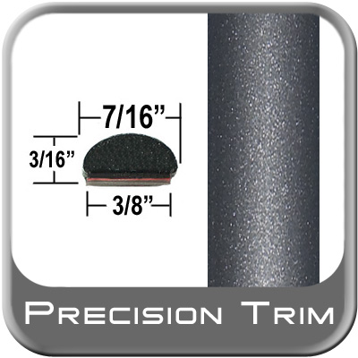 "7/16"" Wide Gray (Dark) Wheel Molding Trim (PT84) Sold by the Foot Precision Trim® #2150-84-01"