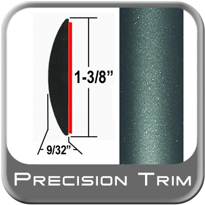 """1-3/8"""" Wide Green (Dark) Molding Trim (PT78) Sold by the Foot Precision Trim® #17100-78-01"""