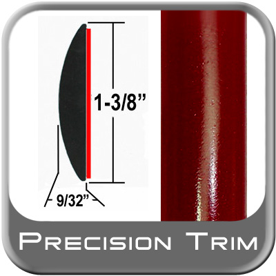 "1-3/8"" Wide Red (Dark) Molding Trim (PT31) Sold by the Foot Precision Trim® #17100-31-01"