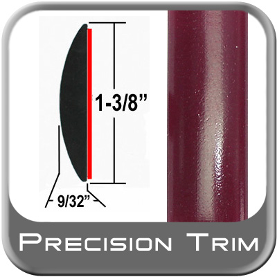 "1-3/8"" Wide Red (Dark) Molding Trim (PT65) Sold by the Foot Precision Trim® #17100-65-01"