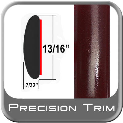 "13/16"" Wide Red (Dark) Molding Trim (PT72) Sold by the Foot Precision Trim® #40100-72-01"