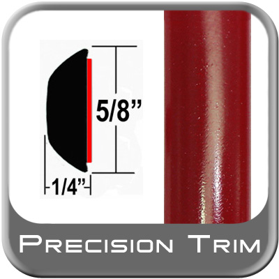 "5/8"" Wide Red (Dark) Wheel Molding Trim (PT42) Sold by the Foot Precision Trim® #37130-42-01"