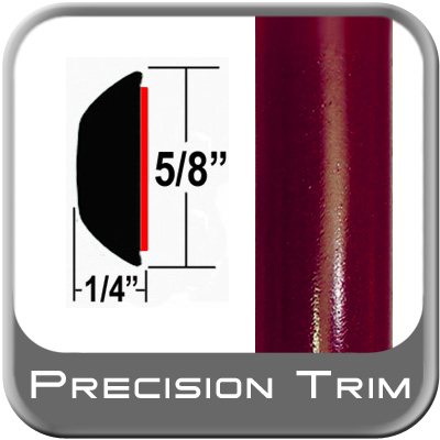 "5/8"" Wide Red (Dark) Wheel Molding Trim (PT44) Sold by the Foot Precision Trim® #37130-44-01"