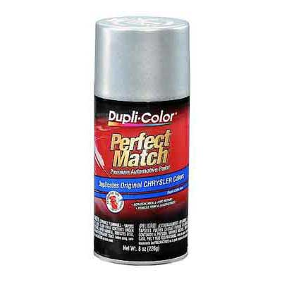 Chrysler, Dodge Bright Silver Metallic Perfect Match® Touch-Up Spray Paint 8 ounce DupliColor #BCC0410