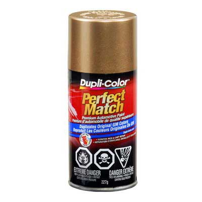 GM, Isuzu Gold Metallic Perfect Match® Touch-Up Spray Paint 8 ounce DupliColor #BGM0491