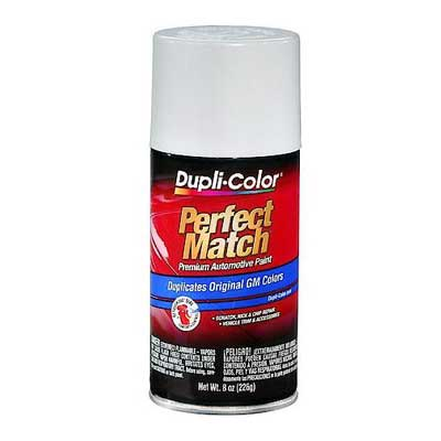 GM, Isuzu Pure White Perfect Match® Touch-Up Spray Paint 8 ounce DupliColor #BGM0387