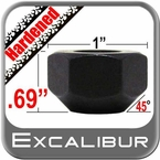 """Excalibur® 5/8"""" x 11 Black Lug Nuts Tapered (45°) Seat Right Hand Thread Black Chrome Sold Individually #3450HD"""