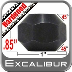 """Excalibur® 5/8"""" x 11 Black Lug Nuts Tapered (45°) Seat Right Hand Thread Black Chrome Sold Individually #2450HD"""