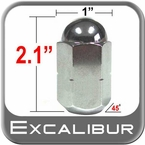 "Excalibur® 5/8"" x 18 Chrome Duallie Lug Nuts Tapered (45°) Seat Left Hand Thread Chrome Sold Individually #3140"
