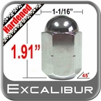 "Excalibur® 5/8"" x 18 Chrome Duallie Lug Nuts Tapered (45°) Seat Left Hand Thread Chrome Sold Individually #3140HD"