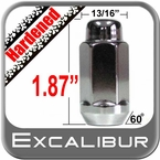 "Excalibur® 5/8"" x 18 Chrome Lug Nuts Tapered (60°) Seat Left Hand Thread Chrome Sold Individually #1740XLHD"