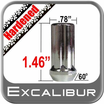 "Excalibur® 7/16"" x 20 Lug Nuts Tapered (Bulge)(60°) Seat Right Hand Thread Chrome Sold Individually #98-0352"