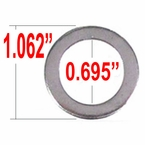 Excalibur® Chrome Lug Nut Washer Standard Mag Round Sold Individually #772C