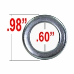 Excalibur® Silver Lug Nut Washer Cragar (Small) Round Sold Individually #790