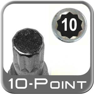 Custom Wheel Accessories® Lug Nut Key Small 10-Point (Male) Sold Individually #6464-10