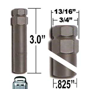 Excalibur® Lug Nut Key Medium 7-Splined (Female) Sold Individually #98-0350