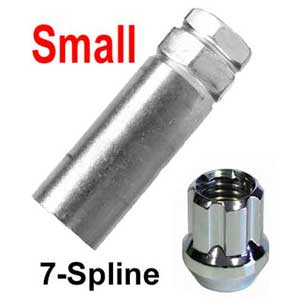 Excalibur® Lug Nut Key Small 7-Splined (Female) Sold Individually #98-0350A