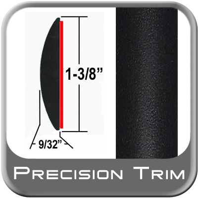 "1-3/8"" Wide Molding Trim Black (Flat) (PT11) Sold by the Foot Precision Trim® #17100-11-01"