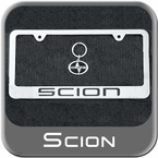 Genuine Scion License Plate Frame w/Keychain, Bolts & Bolt Emblems Matte Silver Finish Sold Individually #PTS22-0005S