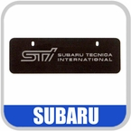 Subaru STi License Plate