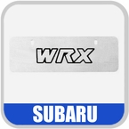 Genuine Subaru License Plate Euro-Style Marquee Plate Stainless Steel Finish, with WRX Logo Sold Individually #SOA342L130