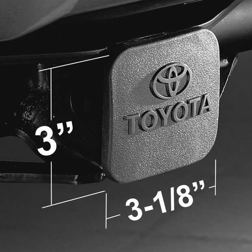 Toyota Trailer Hitch Cover Plug Black Rubber W Logo Fits All 2 Hitches