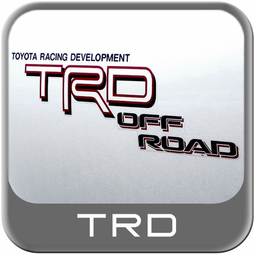 Genuine Toyota TRD Off Road Decal TRD Off Road Sticker White, Red & Black w/Drop Shadow Sold Individually #75996-04050-A0