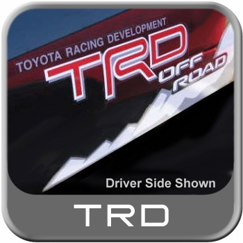 Genuine Toyota TRD Offroad Decal Rugged Trail Edition Red TRD Passenger  Side Sold Individually #PT747