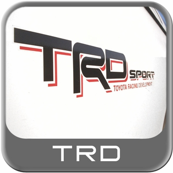Genuine Toyota TRD Sport Decal TRD Sport Passenger Side Sticker Black w/Red Shadow Sold Individually #PT211-3403R-03