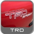 Genuine Toyota TRD Sport Decal TRD Sport Sticker Red & White w/Gray Drop Shadow Sold Individually #75996-04060-D0