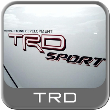 Genuine Toyota TRD Sport Decal TRD Sport Sticker White, Red & Black w/Drop Shadow Sold Individually #75996-04060-A0