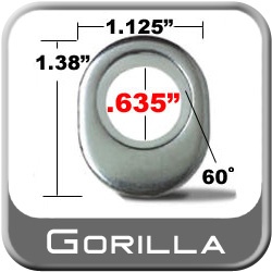 Gorilla® Chrome Lug Nut Washer E-T Ultra Mag/Tapered (Offset) Round Sold Individually #79917