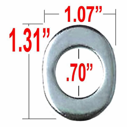 Gorilla® Silver Lug Nut Washer Keystone Center Oblong Sold Individually #79906