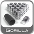 Gorilla® 12mm x 1.25 Wheel Locks Tapered (60°) Seat Right Hand Thread Chrome 20 Locks w/Key #71623N