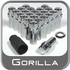 Gorilla® 12mm x 1.25 Wheel Locks Mag Seat Right Hand Thread Chrome 24 Locks w/Key #74624N