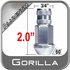 Gorilla® 12mm x 1.5 Silver Aluminum Racing Lug Nuts Tapered (60°) Seat Right Hand Thread Silver Sold Individually #44038AL
