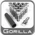 Gorilla® 12mm x 1.5 Stud Bolts Cone (60°) Seat Right Hand Thread Chrome 16 Bolts w/Key #17100SD-16