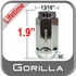 Gorilla® 14mm x 2.0 Lifetime Guarantee Lug Nuts Tapered (Bulge)(60°) Seat Right Hand Thread Chrome Sold Individually #61108XL