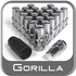 Gorilla® 14mm x 2.0 Wheel Locks Tapered (60°) Seat Right Hand Thread Chrome 24 Locks w/Key #76604N