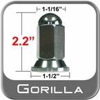 "Gorilla® 5/8"" x 18 Chrome Duallie Lug Nuts Flat (Flanged) Seat Right Hand Thread Chrome Sold Individually #22258N"