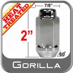 "Gorilla® 5/8"" x 18 Chrome Lug Nuts Tapered (60°) Seat Right Hand Thread Chrome Sold Individually #76158HT"