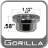 Gorilla® Chrome Lug Nut Washer Appliance Step (Center) Round Sold Individually #79970