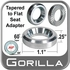 Gorilla® Chrome Lug Nut Washer Ford Adapter Round Sold Individually #79916