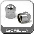 "Gorilla® Chrome Tire Valve Stem Cap Dome Top ""Hex"" Hex (Domed) Sold Individually #VSC"