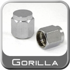"Gorilla® Chrome Valve Stem Cap Flat Top ""Hex"" Hex (Flat) Sold Individually #VSC-F"